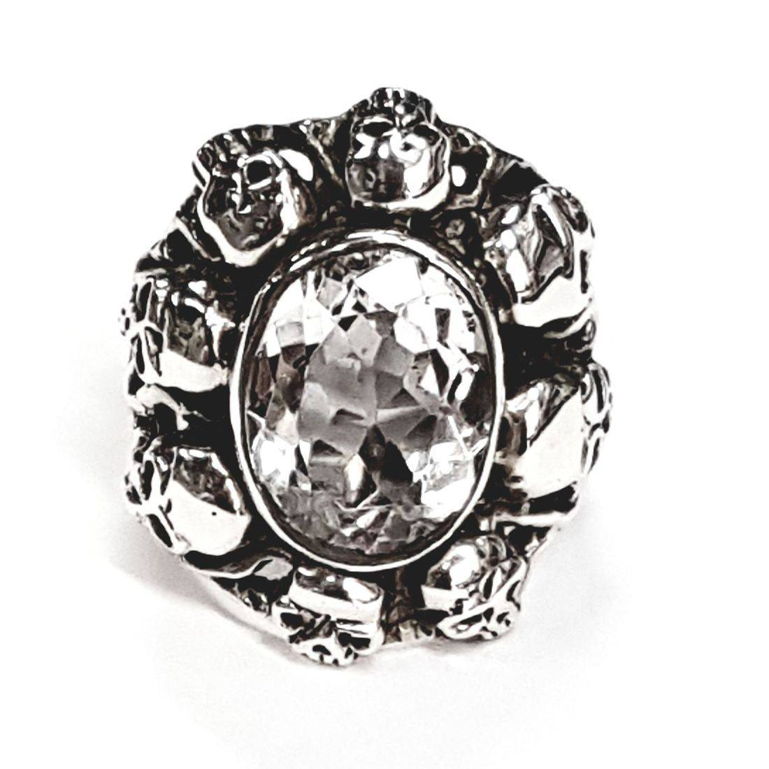 Solid Silver crystal rings available at Kazbah online and our Leicester city centre shop
