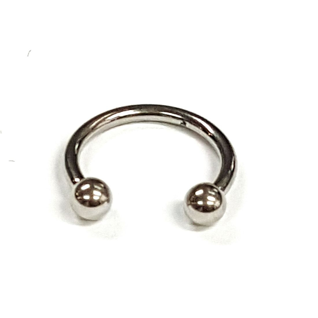 1.2mm x 8mm Silver Horseshoe 3mm balls   available at Kazbah online and our Leicester City Centre Shop