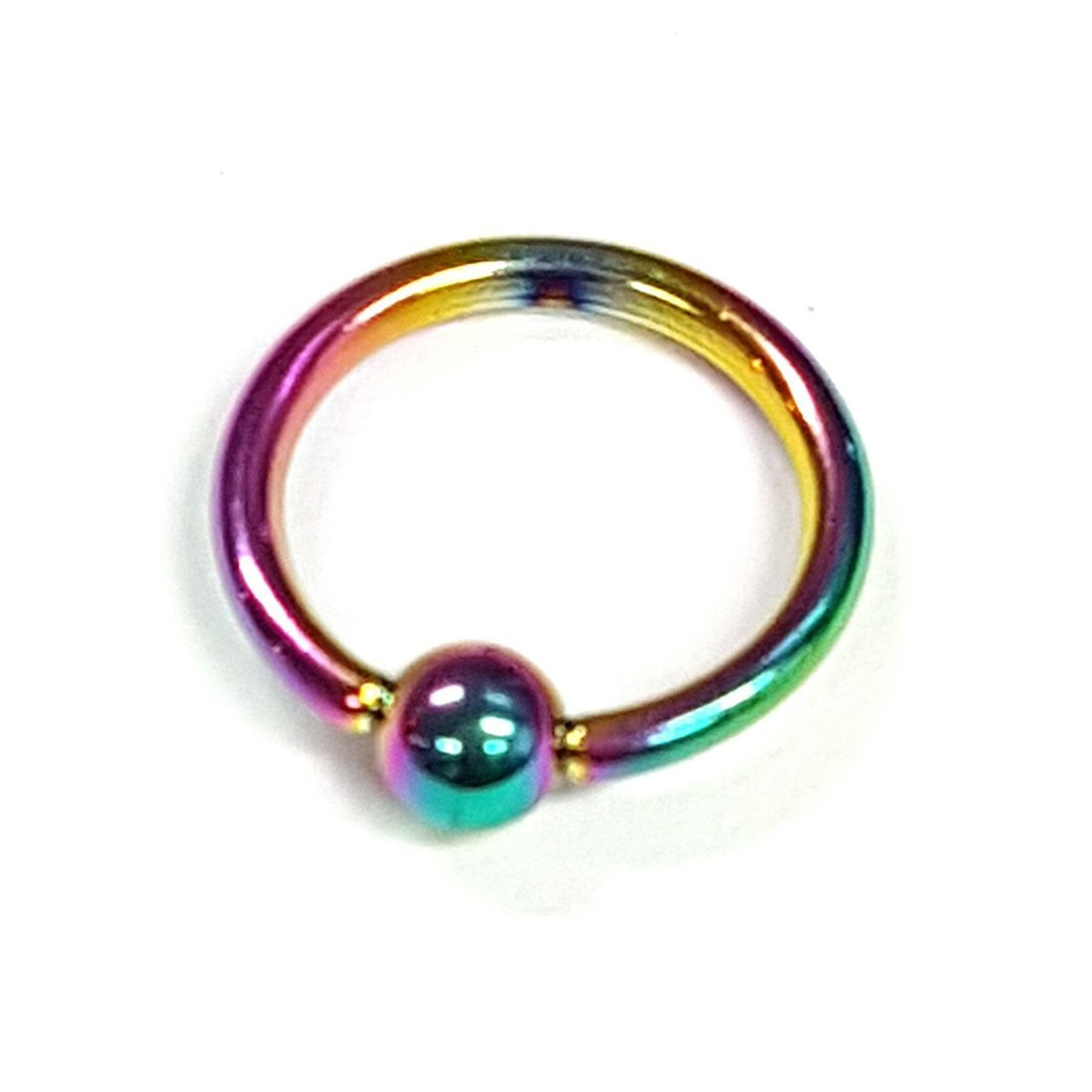 1.2mm x 10mm Rainbow Ball Closure Ringavailable at kazbah online or our Leicester City Centre Store