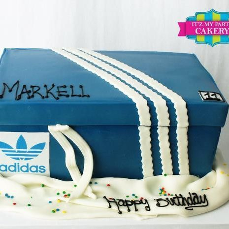 Adidas Shoe Box Dimensional Cake Milwaukee