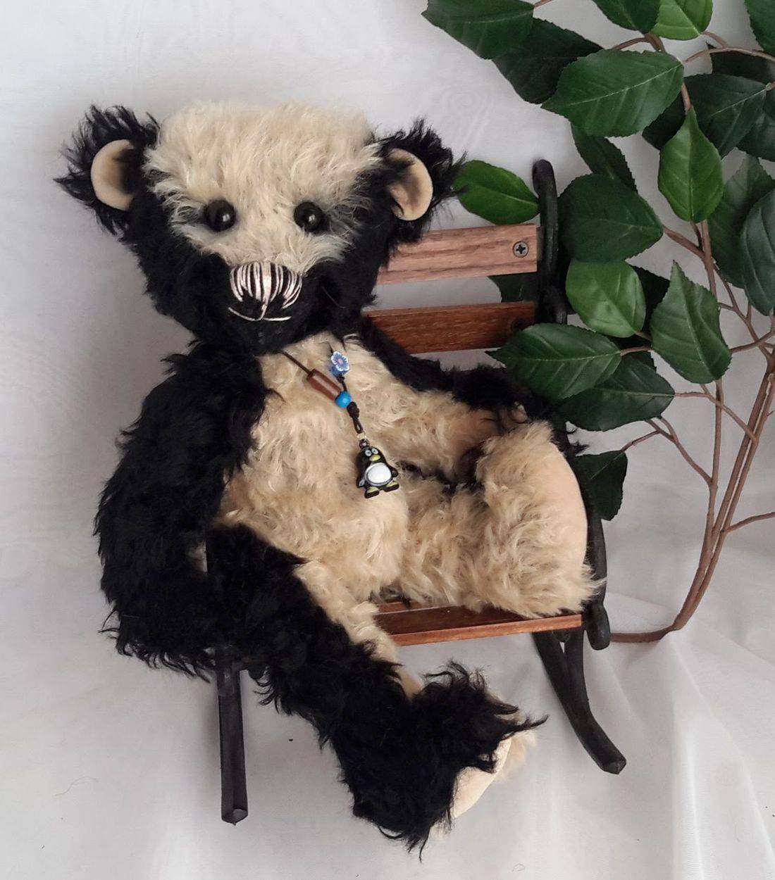 Mohair bear, individual, hand made.
