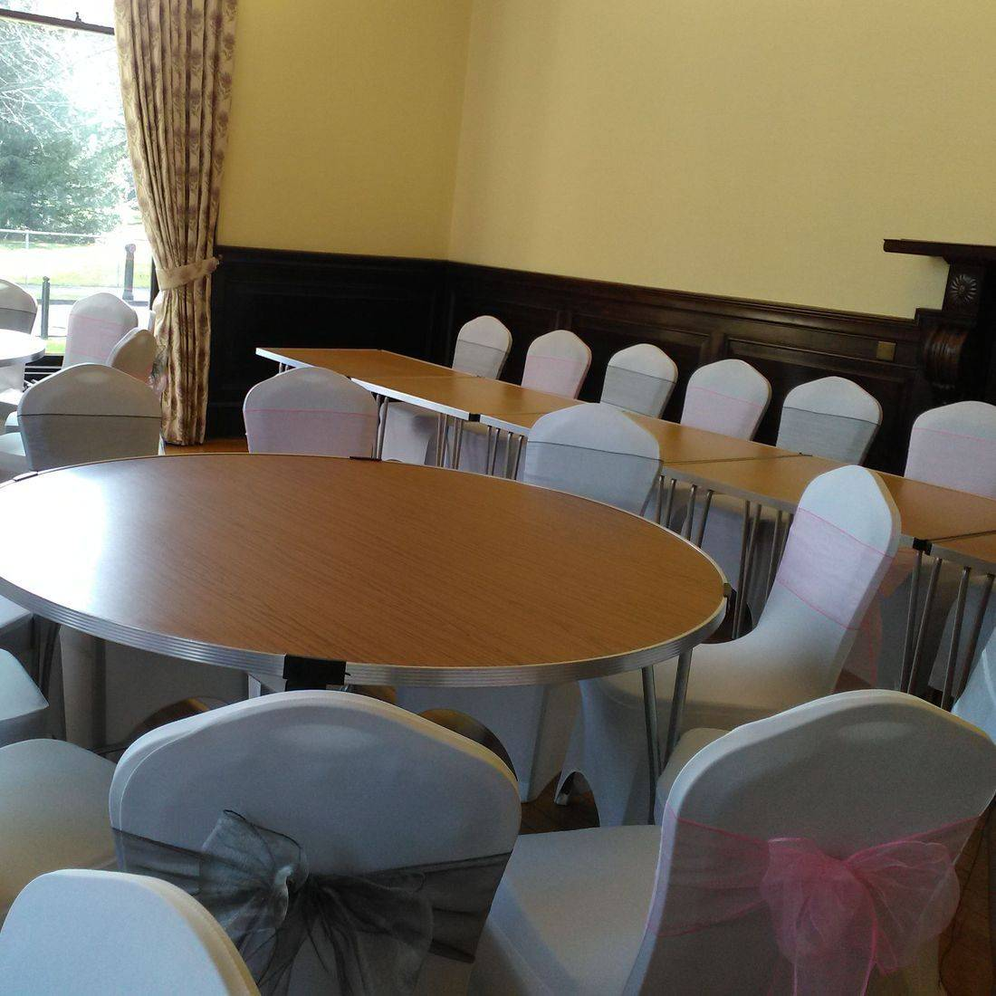 Chair cover hire Eastwood House
