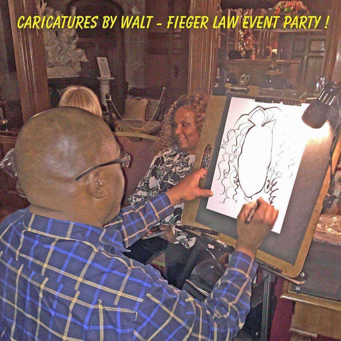 Color Party Caricatures
