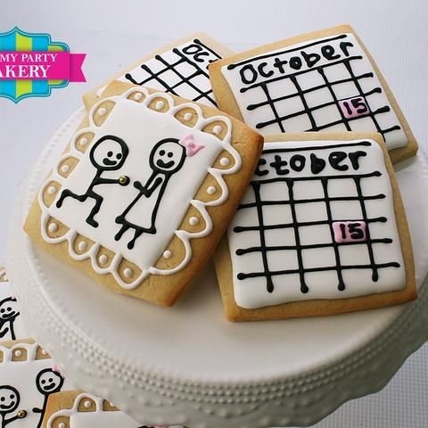 Engagement Calendar Proposal cookies Milwaukee