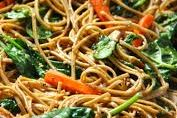 This is Arista's veggie fried noodles luau