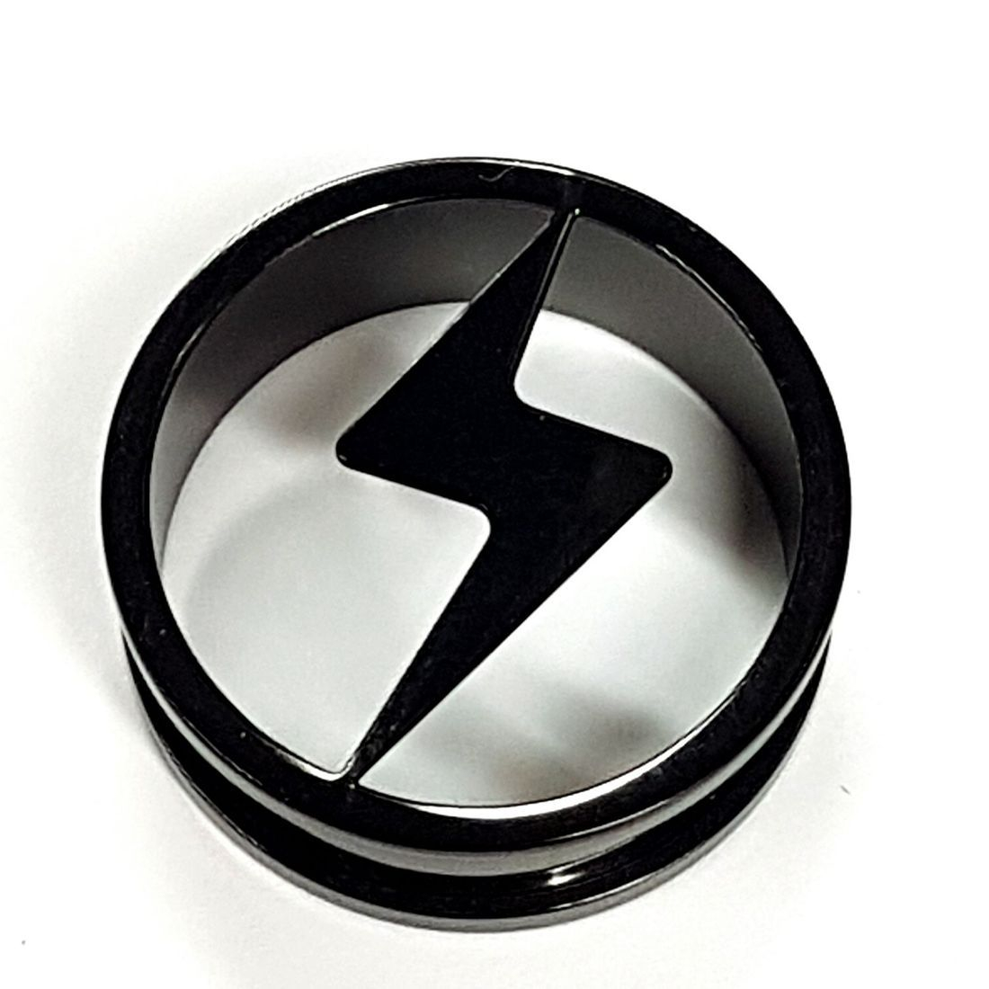 Titanium lightning bolt tunnel available from Kazbah online or our Leicester city centre store