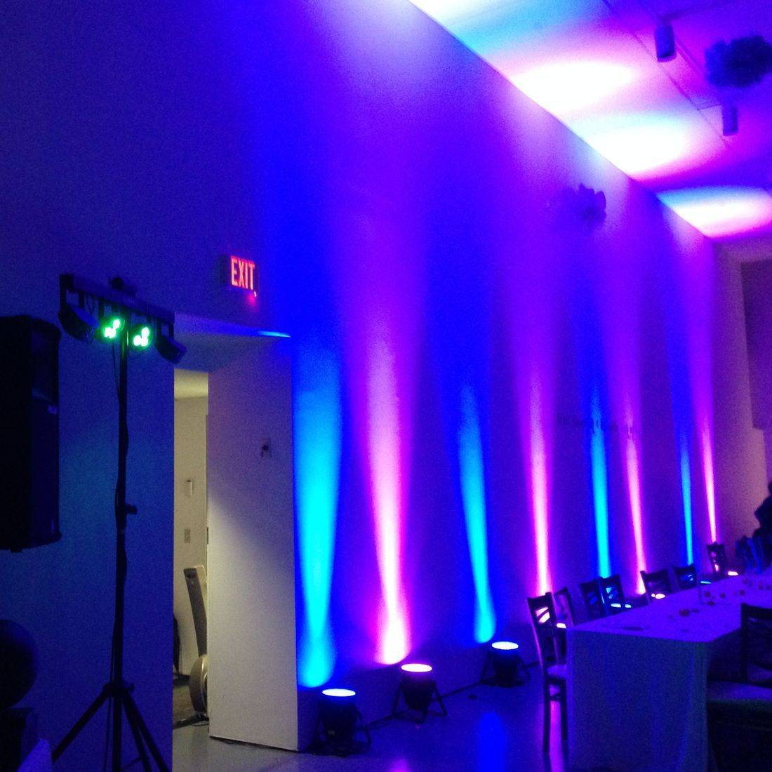Mr. Productions DJ Service providing uplights and dj'n an Art Gallery of Hamilton wedding.