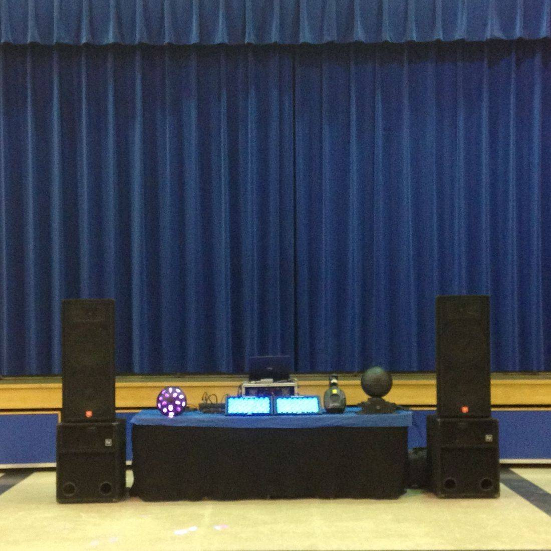 Mr. Productions DJ Service DJ'n for a high school dance at McKinnon Park Secondary School in Caledonia.