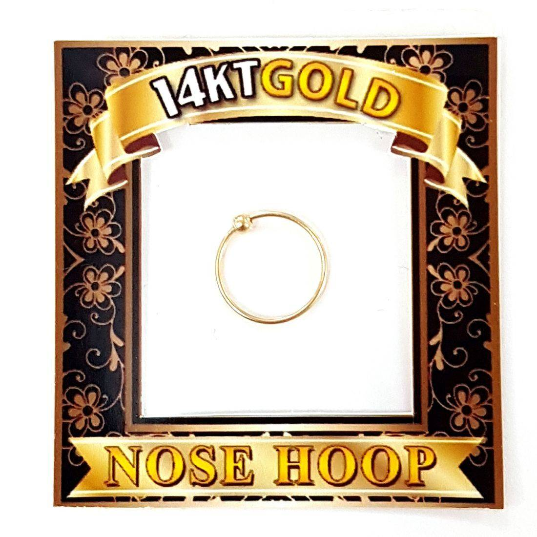 14ct gold nose ring available at Kazbah online and our Leicester City Centre shop