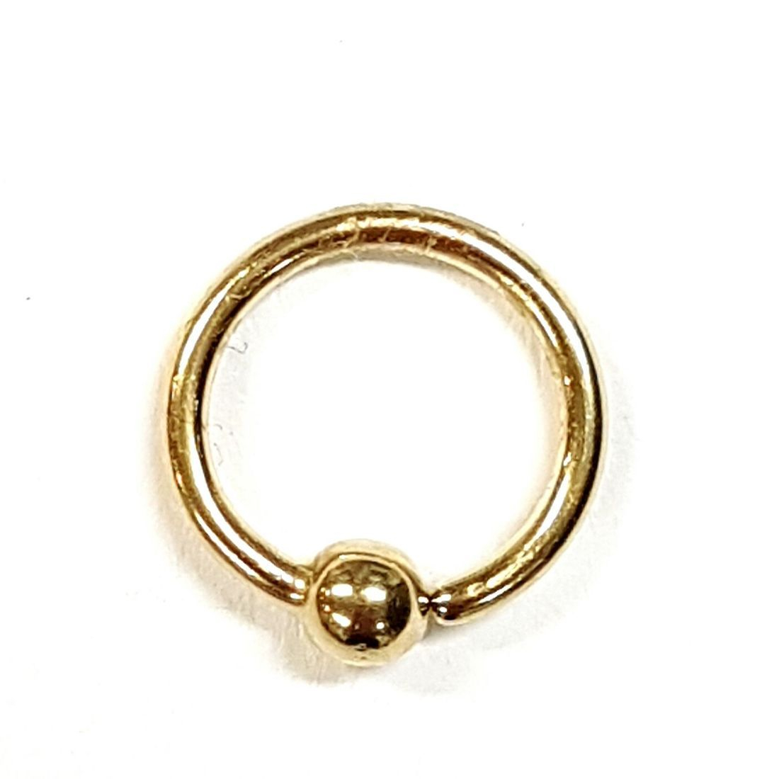 14ct Gold ball closure ring available at Kazbah online or our Leicester City Centre shop