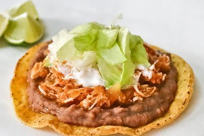 Tostadas are delcious