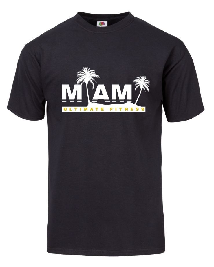 workout online training t-shirt miami ultimate fitness