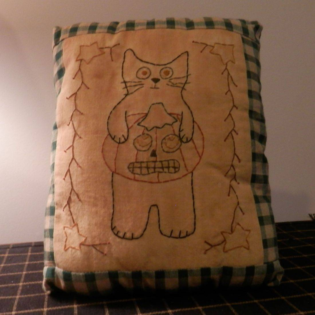 stitched Halloween pillow