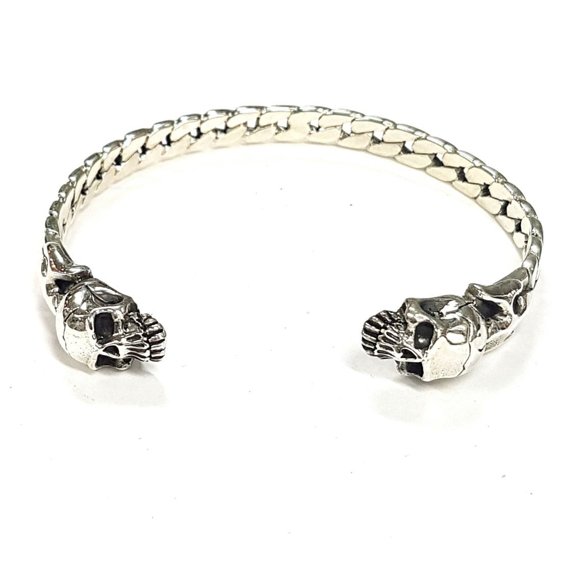 Solid silver Skull Bangle  available at Kazbah online and our Leicester City Centre Shop