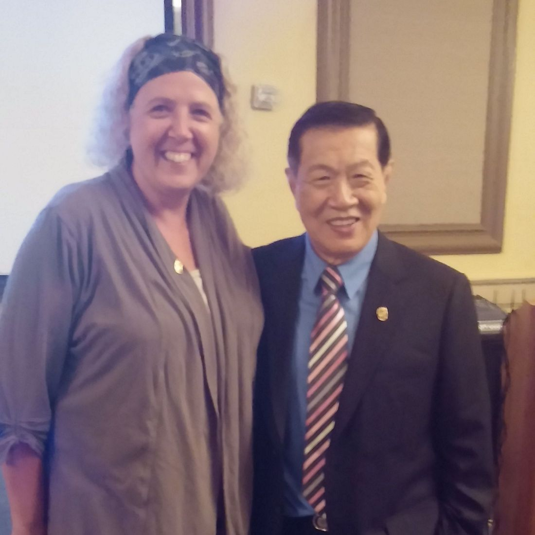 Pam Schmidt with Dr. Henry Lee 2016