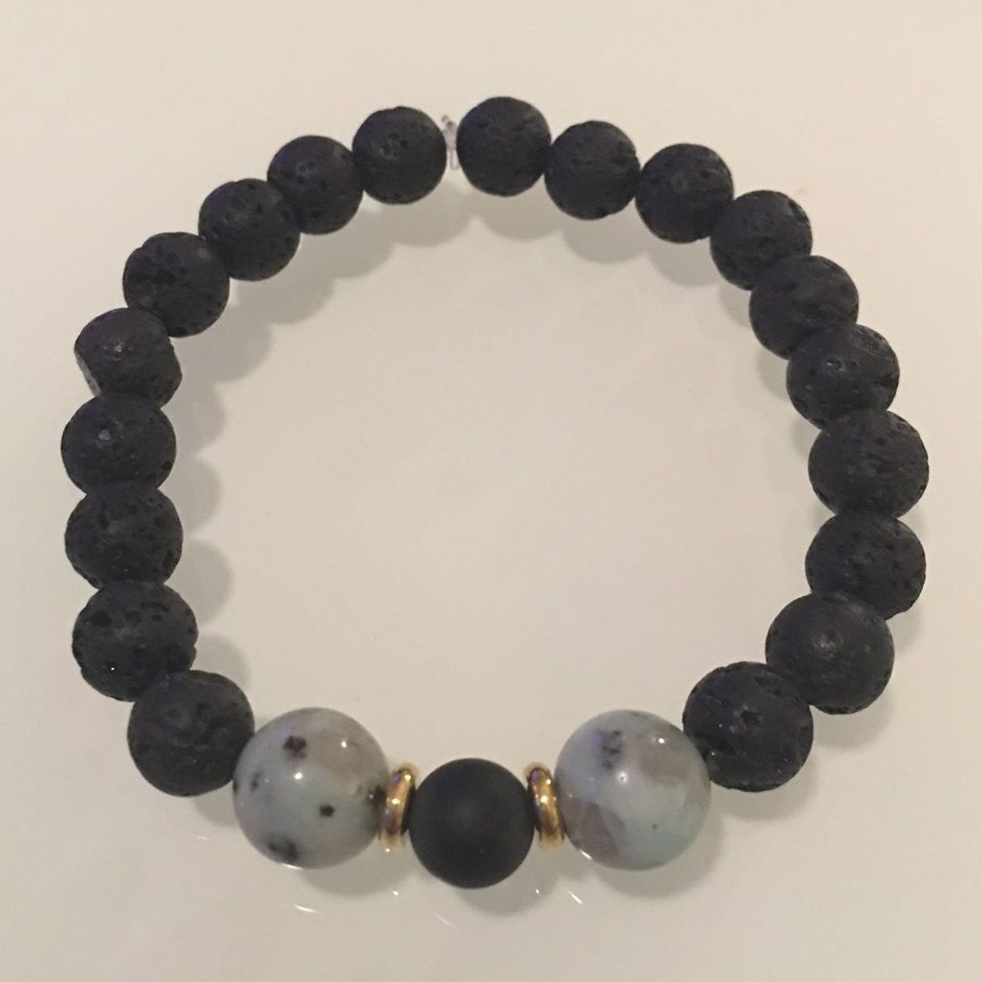 Positively Stoned: Zebra Jasper, Lava Rock , Onyx