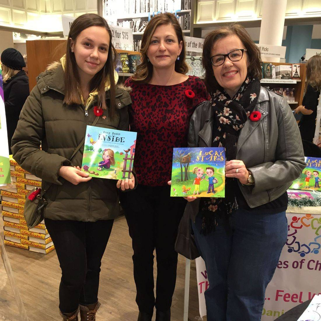 Indigo Stoney Creek November 2017 Book Signing Event for Deep Down Inside and Lucky Stars with Author Daniella Grsic