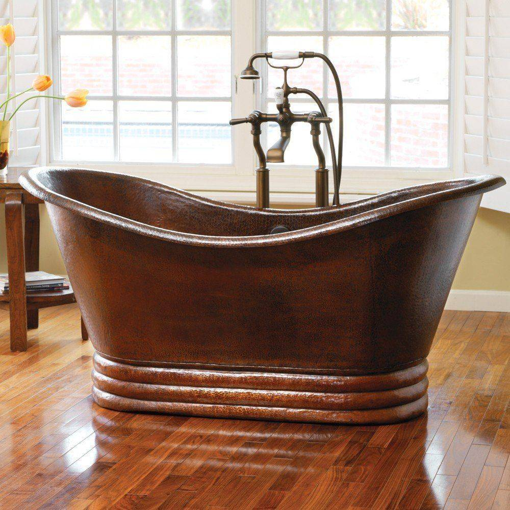 AURORA 72 Freestanding Copper Bathtub