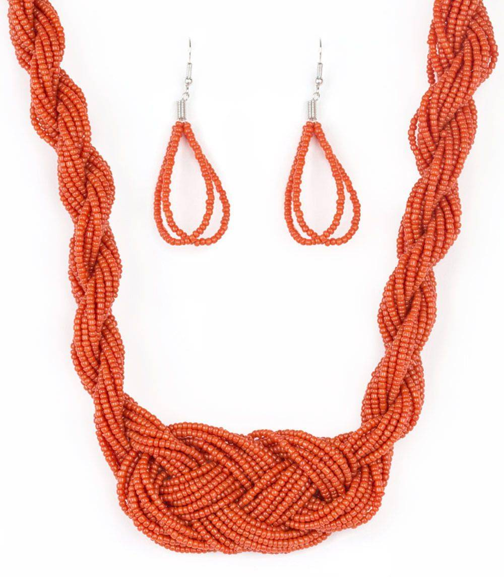Paparazzzi Standing Ovation Orange Necklace