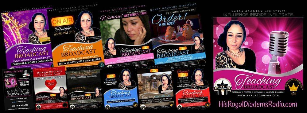 Narda Goodson Teaching Broadcast weekly on HisRoyalDiademsRadio.com