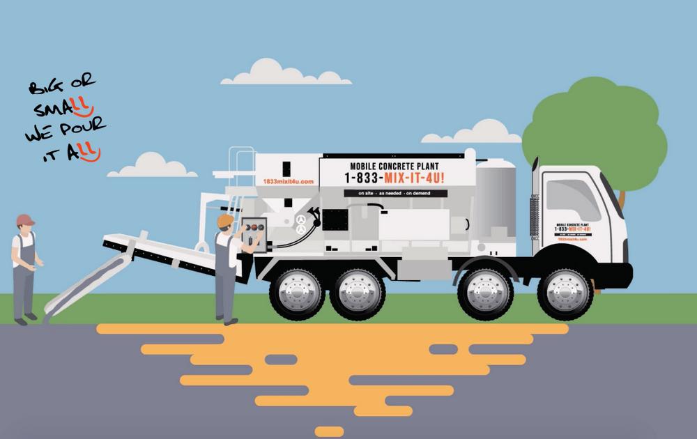 Cement Mixer Truck   1833mixit4u