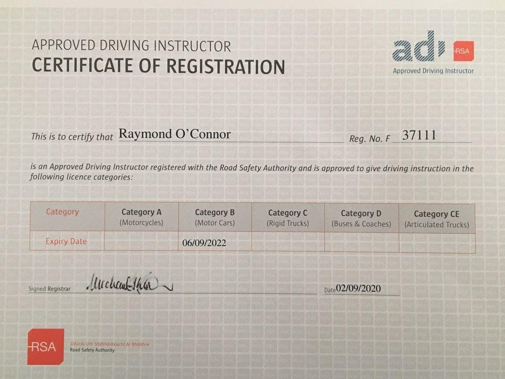 ADI Certificate Of Registration
