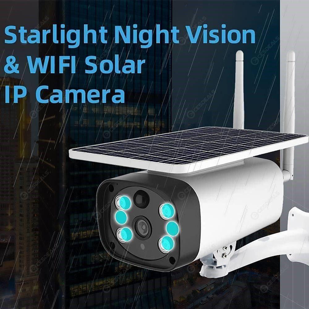 WiFi Solar Security PIR Surveillance Camera Wireless Mobile Remote Monitor 93.86