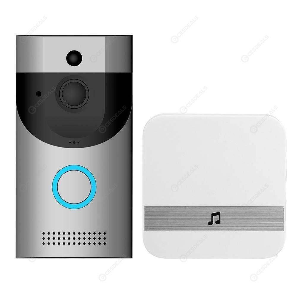 Wireless WiFi Intercom Video Doorbell+ Doorbell Receiver (Silver