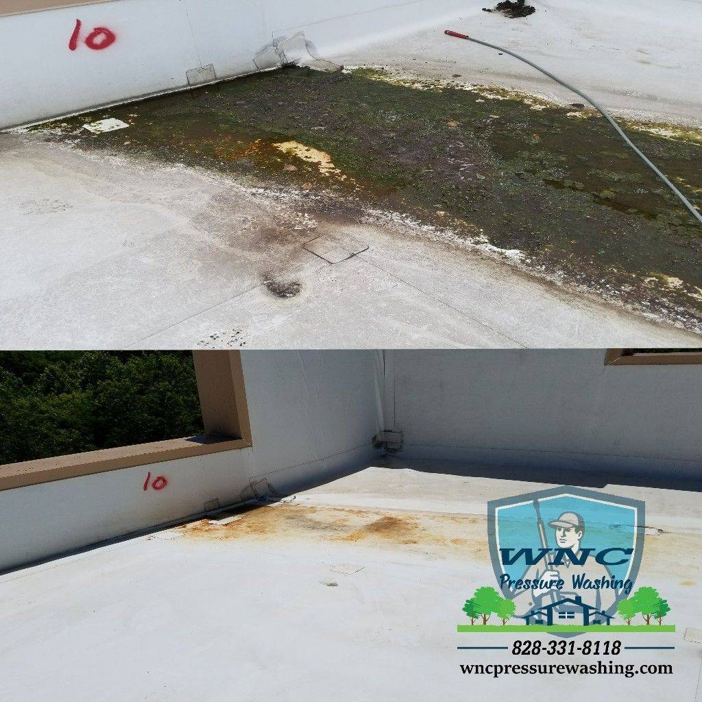 TPO Roof cleaning