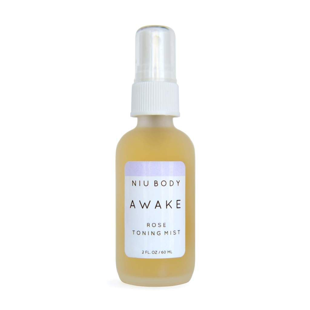Awake Rose Toning Mist, Niu Body Rose Toner, rose toning mist, rose water, rosepost box, clean beauty