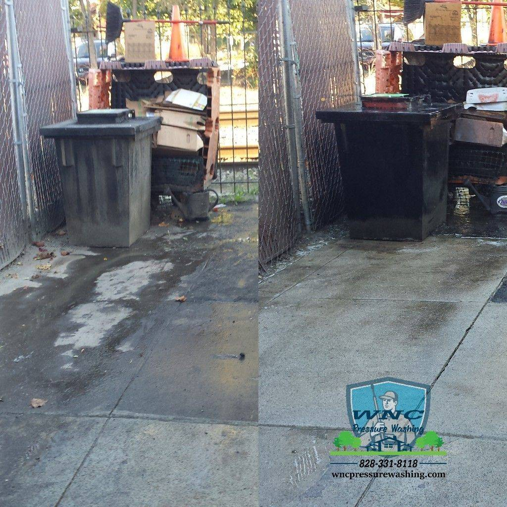 Concrete power washing Asheville
