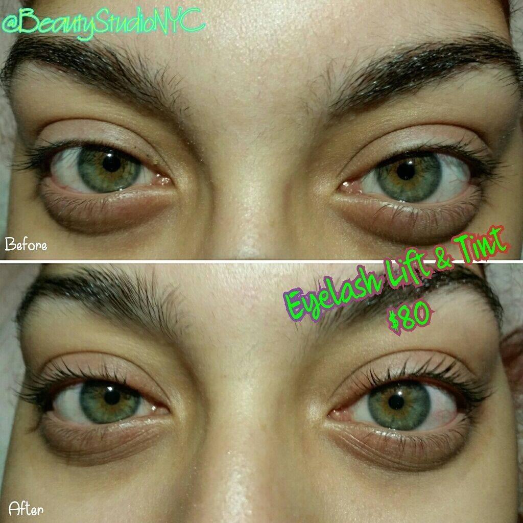Eyelash Lift, Eyelash Tint