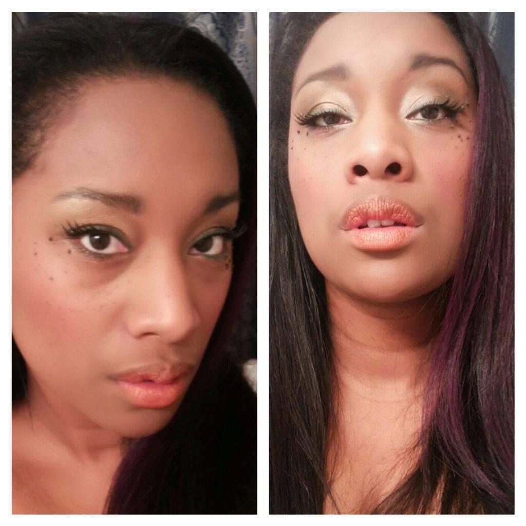 makeup application- soft smokey eye