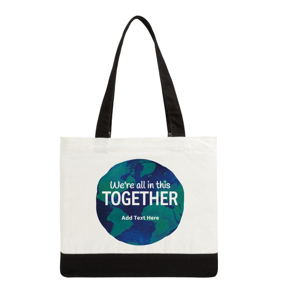 "Custom, Printed, Tote Bag, 8'x8' design, 19""x15"", 6 oz Cotton"