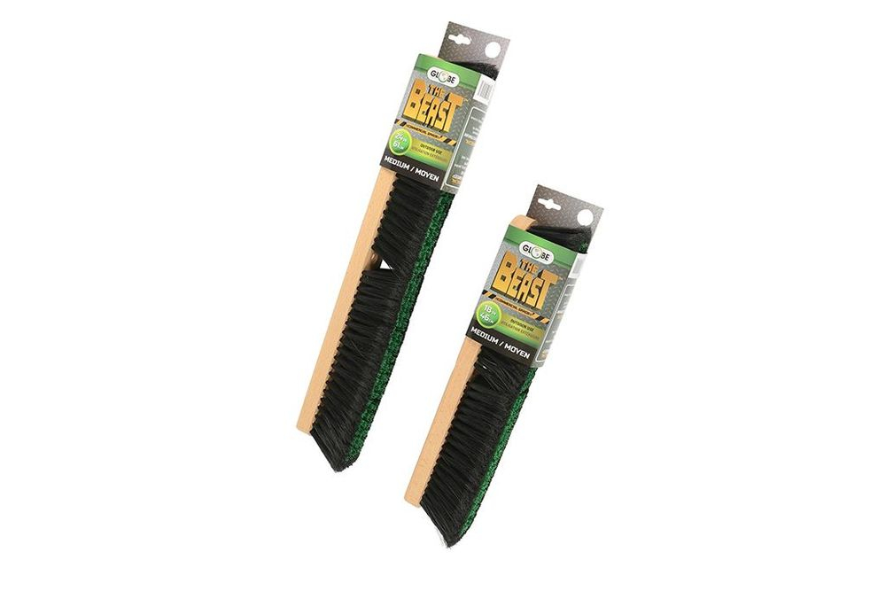 Combo Medium Bristle Push Broom Green Black