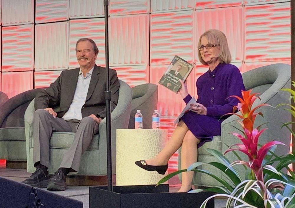 Rhoda Weiss interviews Vicente Fox, former President of Mexico