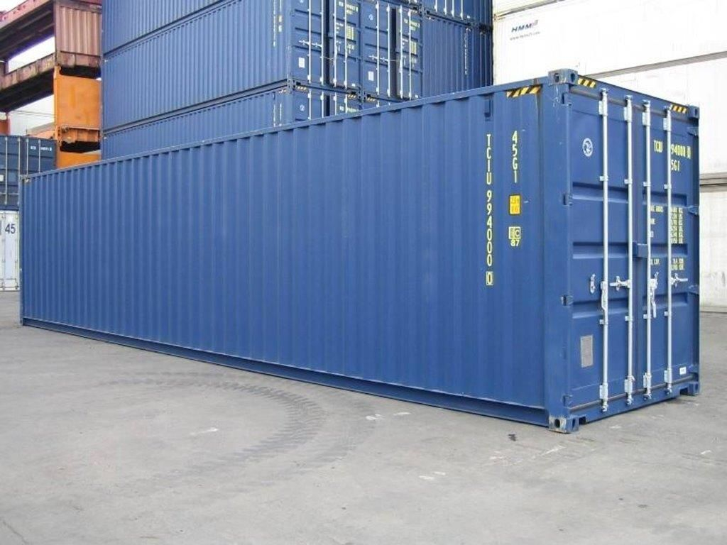 """Simple """"One Trip"""" dry goods 40' shipping container"""
