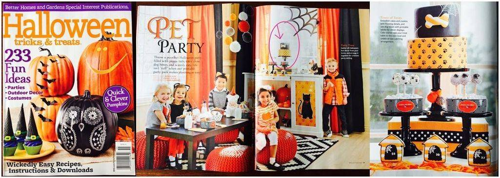Better Homes and Garden Halloween Edition Magazine Feature