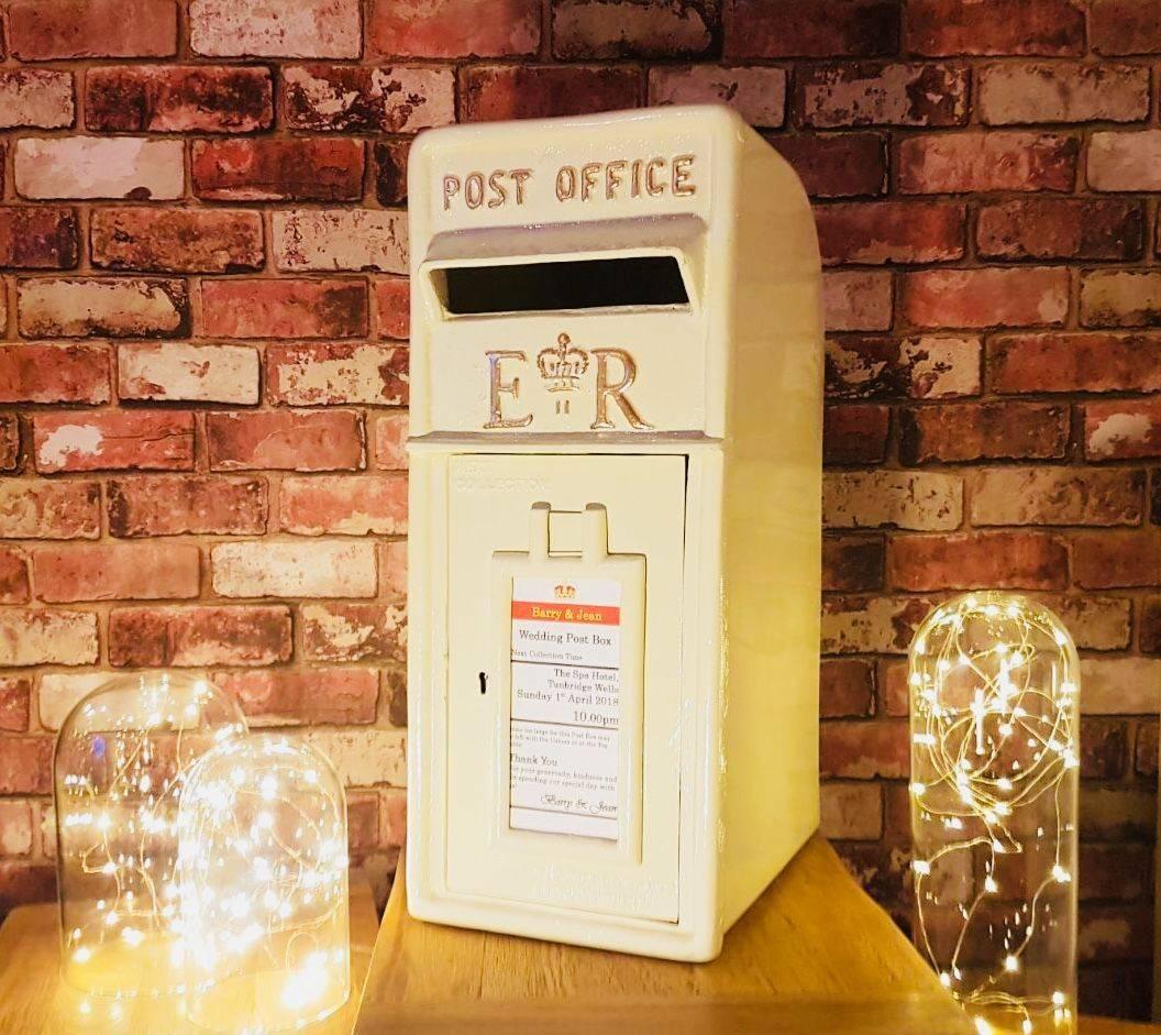 Cream post box, Cream royal mail box, wedding, birthday, post box for wedding, post box for hire