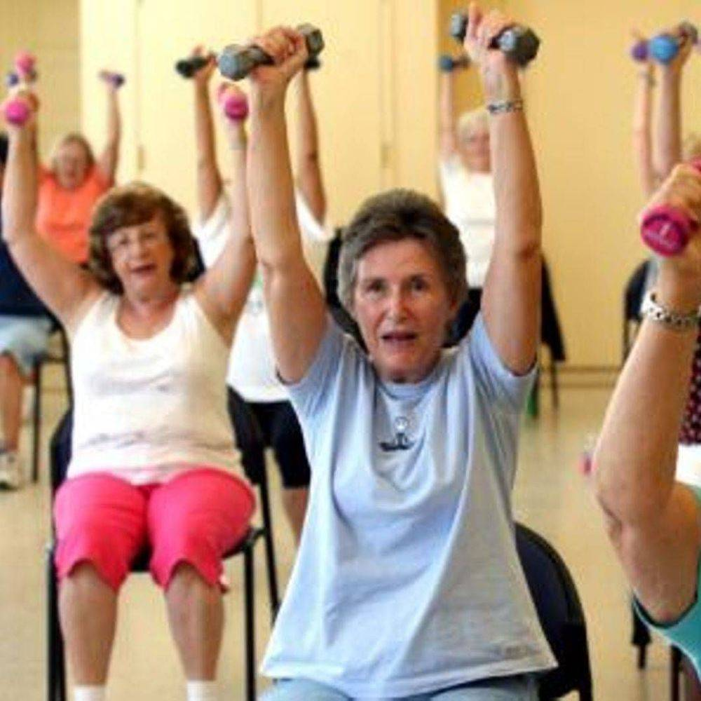 Chair based exercise to do at home for fitness and seniors