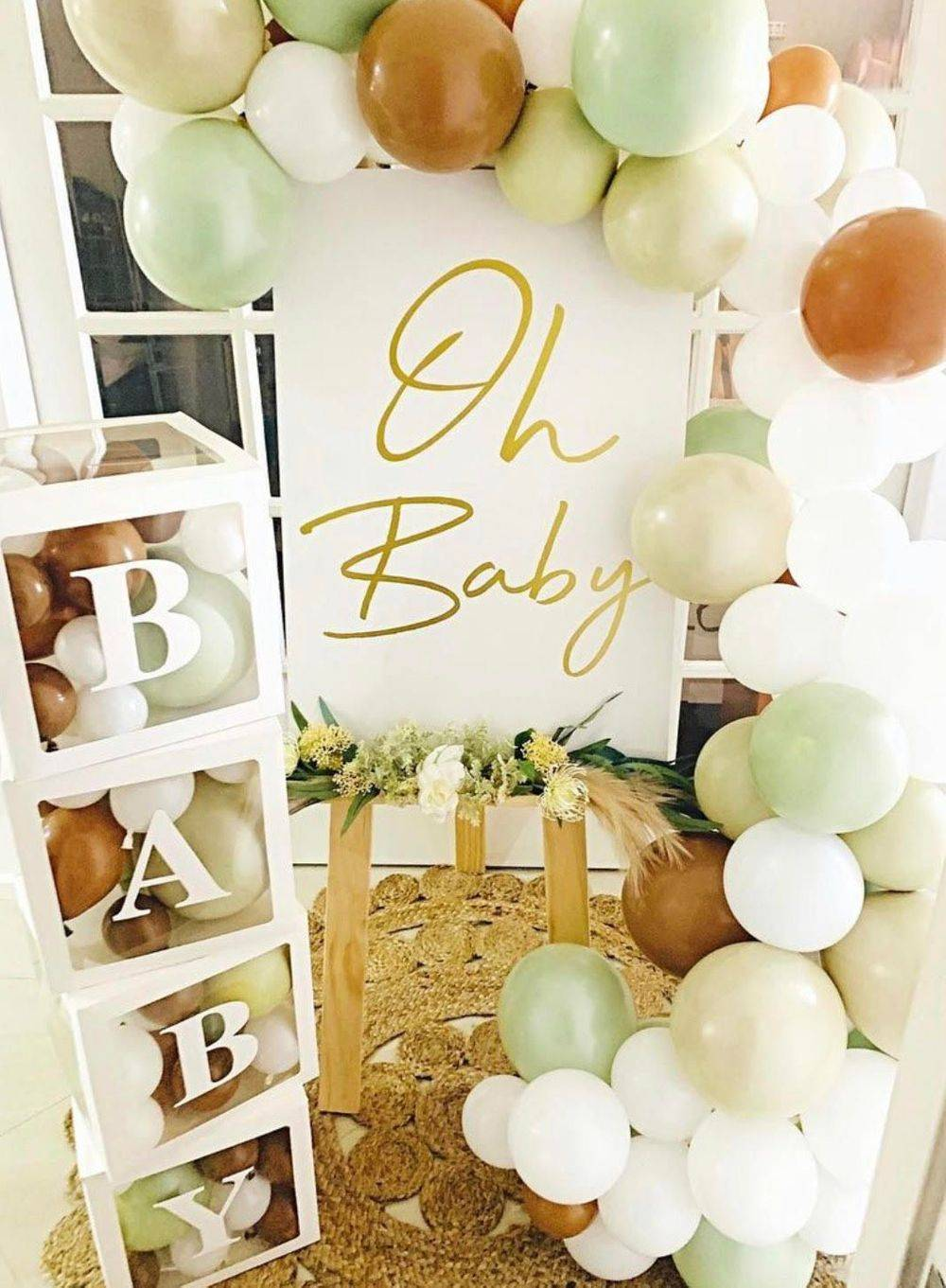 Baby Shower Signage Oh Baby Baby Boxes