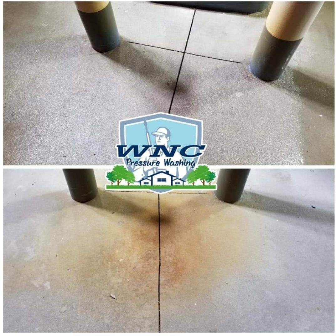 rust stain removal, WNC Pressure washing power washing concrete
