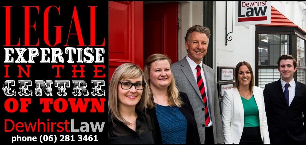 Dewhirst Law.Wills, Estate Planning, Property and Business Law. Better, faster, more fun. Phone (06)281 3461