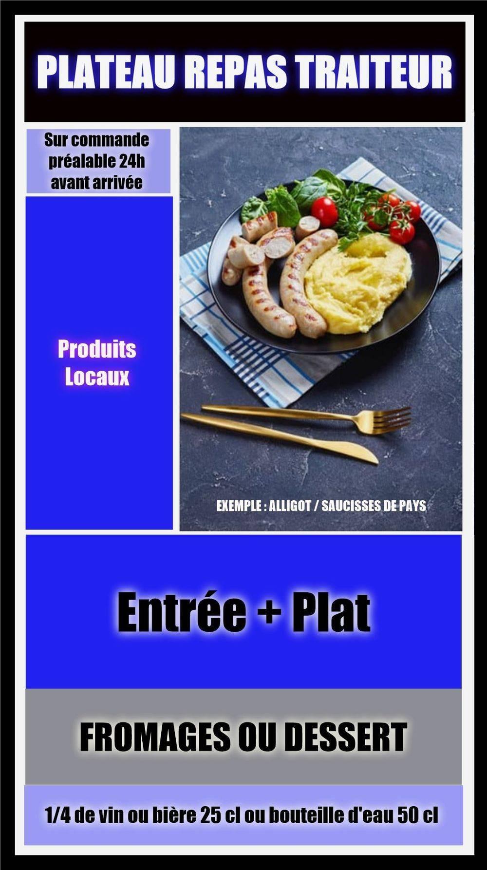 Plateau Repas Traiteur Chez Martine et Philippe 43 Saint Didier en Velay Hébergement professionnel