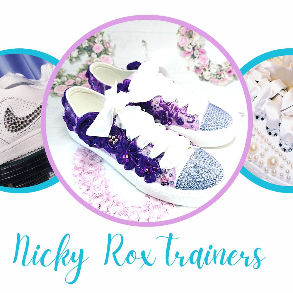 nicky rox custom trainers