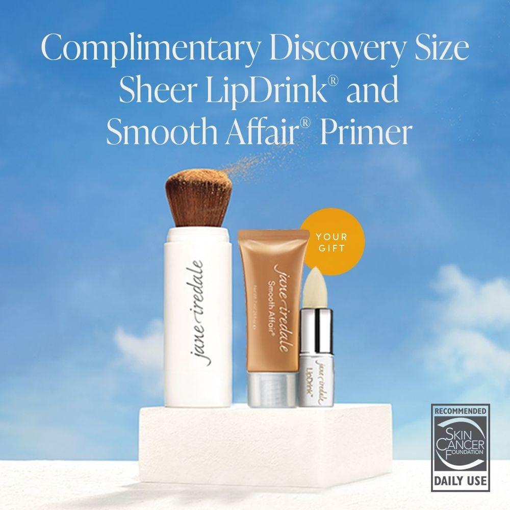 Jane Iredale, Dry SPF, SPF, Uv protection, sunscreen, sun protection, dry sunscreen, SPF 30, facial primer, lip balm, dry lips, cracked lips