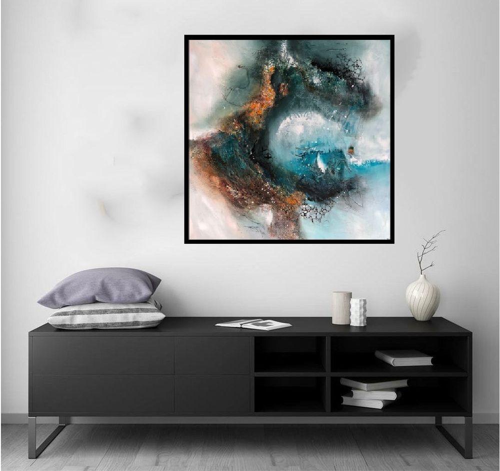 malerier-moderne-farverige-abstrakte-kunst-nr. 252a
