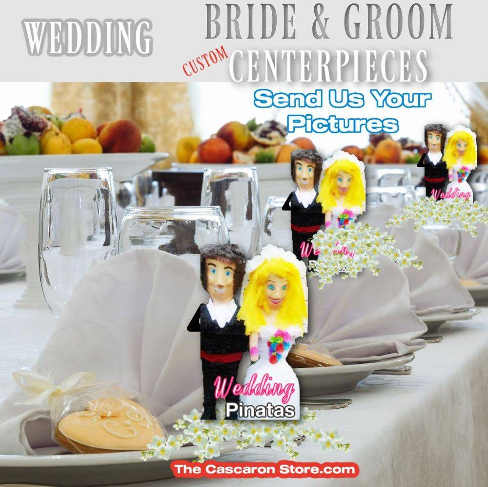 wedding decorations table centerpieces bride and groom figurines
