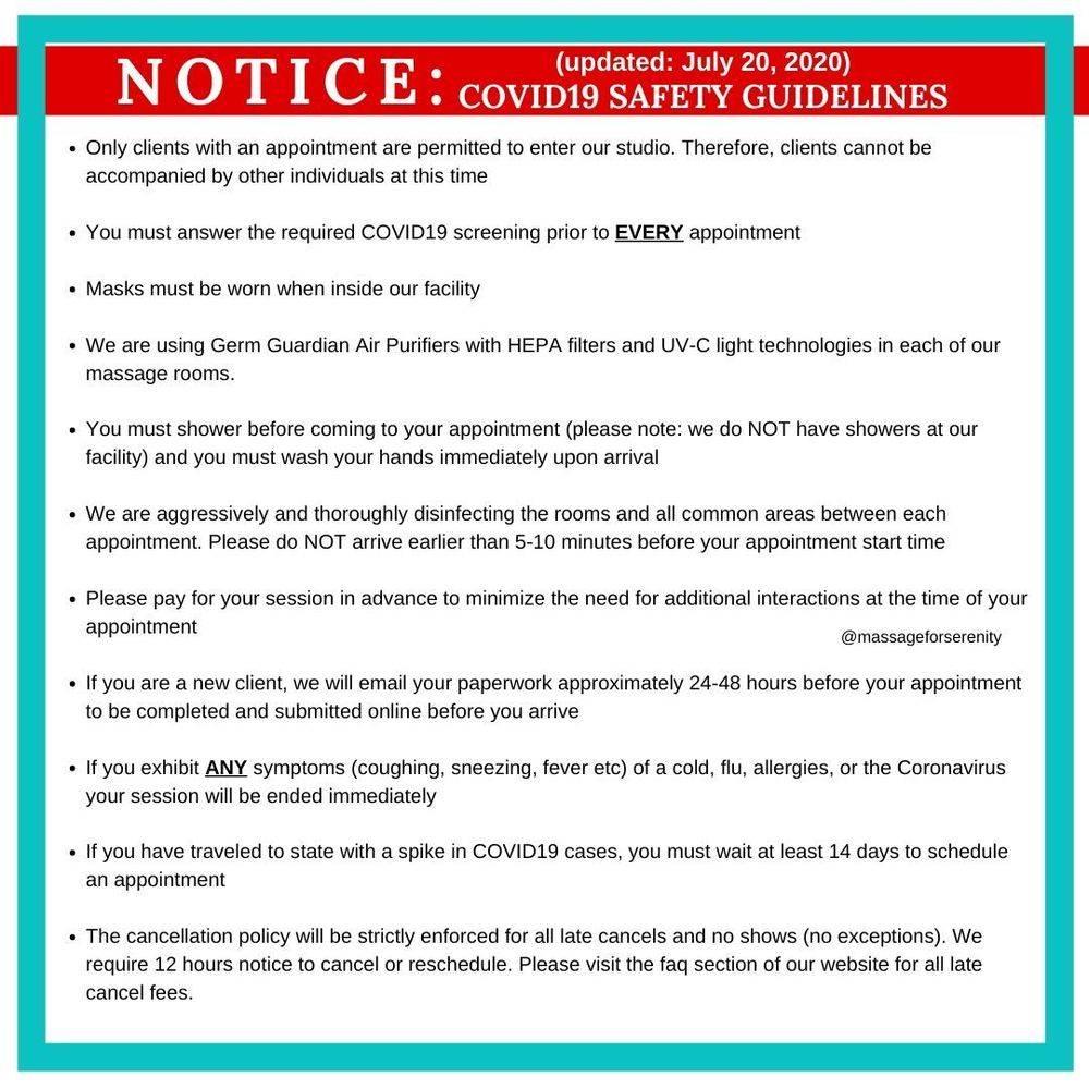 Coronavirus safety guidelines