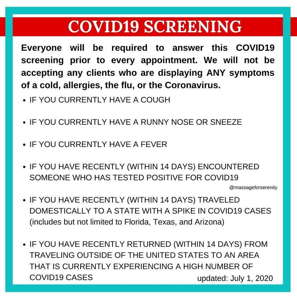 COVID19 screening questionnaire